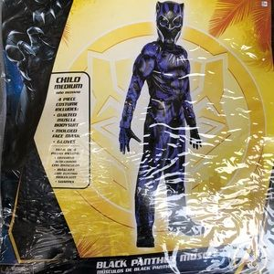 Black Panther Muscle Kids Costume! New!